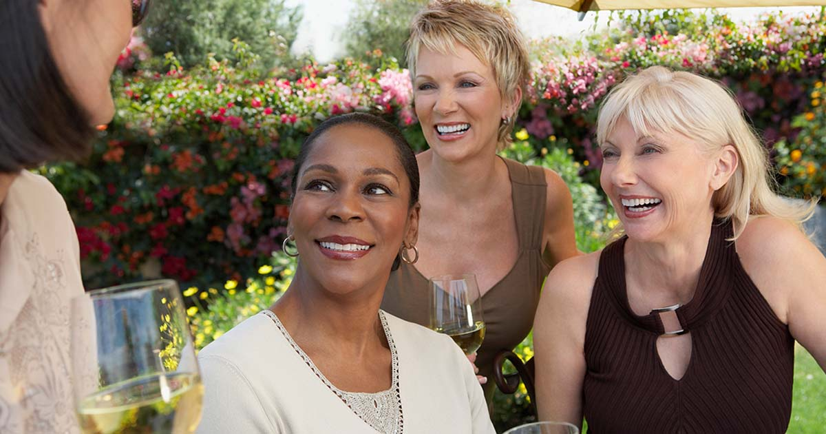 Group of mature women spending time together