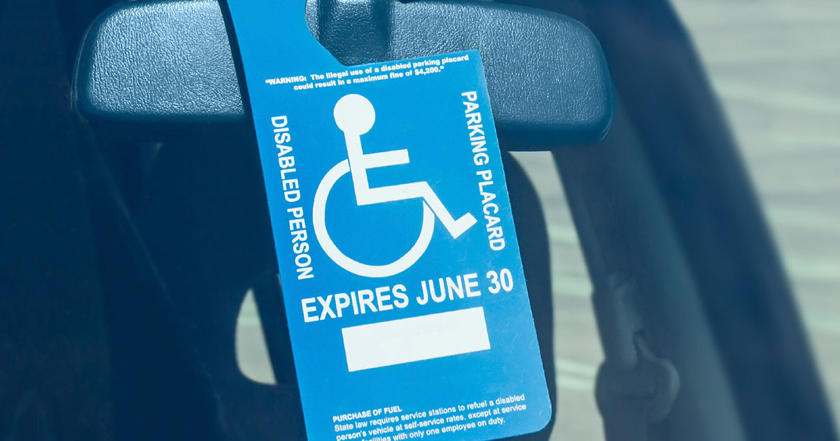 Disability parking permit