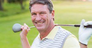 Man holding a golf club