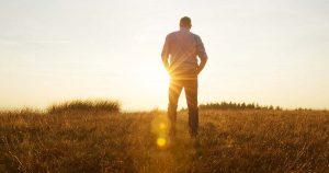 Man standing in a field