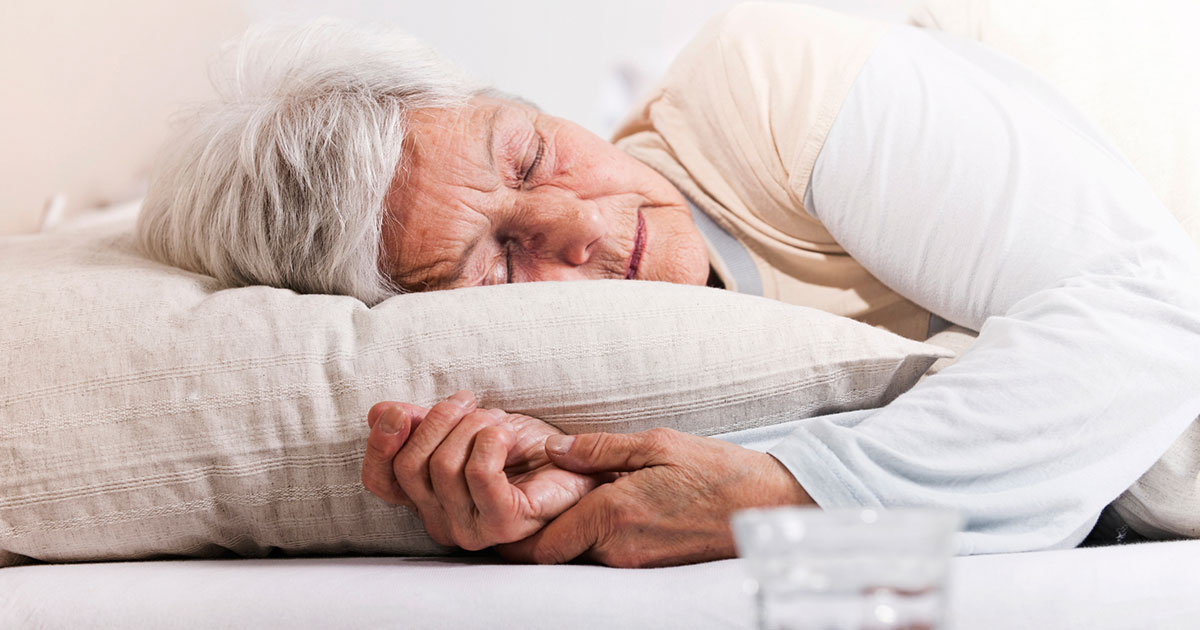 Older woman sleeping