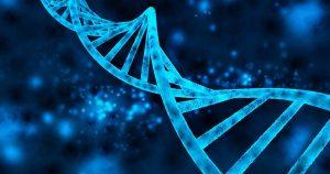 Strand of blue DNA